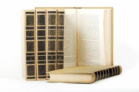 six books on white Stock Photo - 18756003