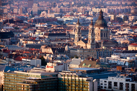 stephen: View on the roofs of Budapest