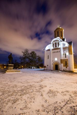 Church of St. George in Bila Tserkva in winter Editorial