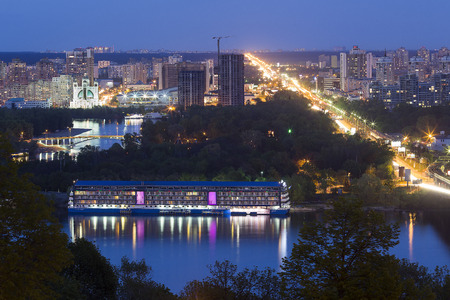 Kiev. On the banks of the Dnieper.