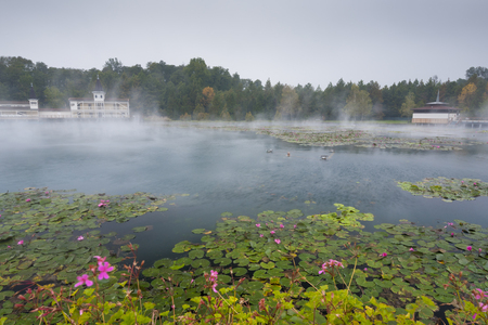 Heviz. Spa. The largest thermal lake in Europe. Wellness center.
