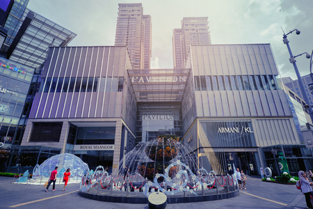 Kuala Lumpur, Malaysia - December, 2018:  Pavilion Shopping Mall in Kuala Lumpur