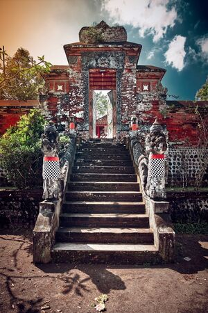 Hindu temple in Indonesia, one of famous tourist attraction. Bali, Indonesia. Stok Fotoğraf