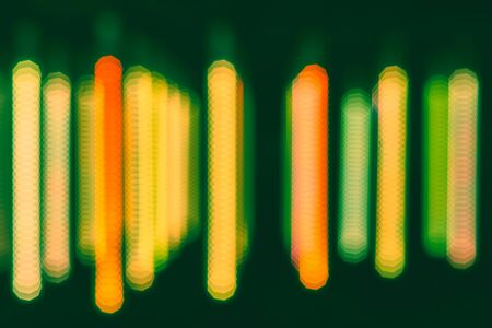 Abstract and blurry background with bright colors. Blur abstract colorful light background, used for web design and visualization of music.