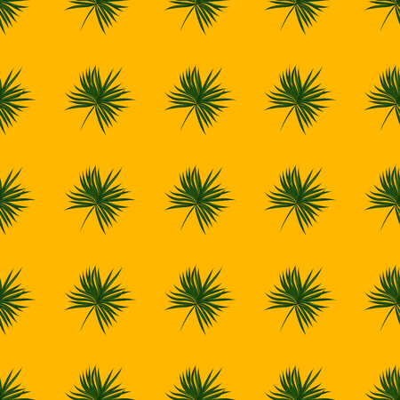 Tropical seamless pattern with leaves. Beautiful tropical isolated leaves. Fashionable summer background with leaves for fabric, wallpaper, paper, covers. Banque d'images - 125733702