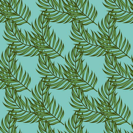Leaf palms pattern.Tropical seamless pattern with palm leaves. Exotic leaves. Çizim