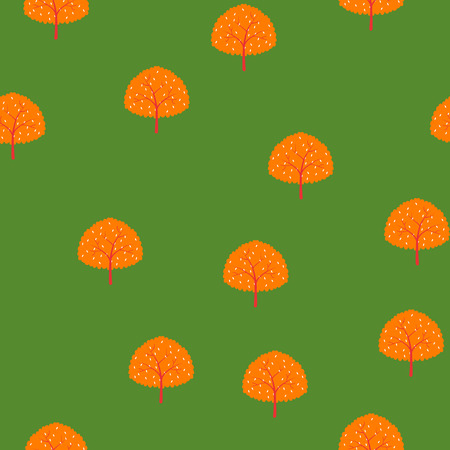 Trees of summer forest pattern.