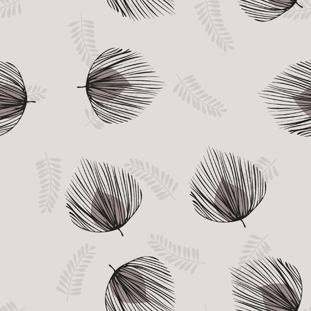 A tropical seamless pattern with leaves. Tropical leaves.