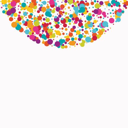 Celebrate color circle vector confetti background.