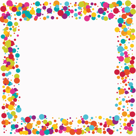 Celebrate color circle vector confetti background.