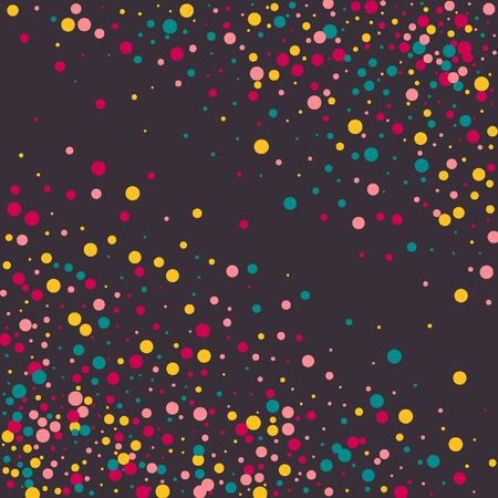 Bright memphis style polka dots on a dark background. Banque d'images - 127637630