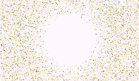 Nude Sparkle Glamour Banner. Festive Sequin Pattern. Light Background. Nude Round Transparent Texture. Glow Isolated Pattern. 向量圖像