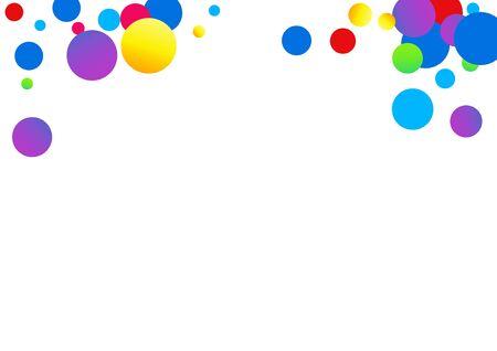 Color Rain Top Illustration. Festival Shine Card. Flying Invitation. Color Confetti Transparent Pattern. Polka Transparent Invitation.