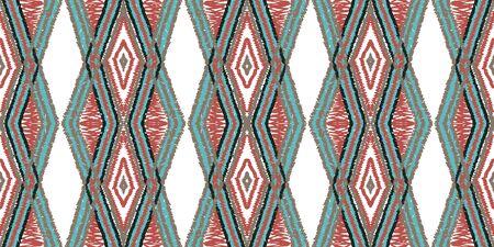 Cornflower Arabic Carpet. Indigo Tie Dye Vector Seamless Pattern. Navajo Carpet Drawn Texture. Cold Japanese Fabric Texture. Fabric Tile Traditional.