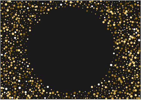 Yellow Sequin Luxury Illustration. Abstract Glow Card. Paper Backdrop. Yellow Circle Luxury Illustration. Dust Golden Backdrop.