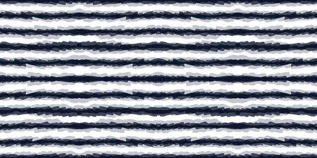Indigo Striped Vector Seamless Pattern. Blue Boho Shibori Navajo Background. Blue Chevron Graphic Design. Cornflower Tribal Geometric African Ornament. Indian Arabic Wallpaper