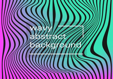 Waves musical abstract background. Minimalistic dynamic volume poster.