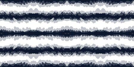 Indigo Ikat Vector Seamless Pattern. Azure Rustic Carpet African Texture. Cold Tie Dye Repeat Wallpaper. Scarlet Line Psychedelic Ethnic Design. Aztec Fabric Print Reklamní fotografie - 138378948