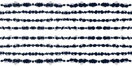 Scarlet Carpet Vector Seamless Pattern. Gloss Bohemian Batik Indonesian Texture. Indigo Striped Ogee Ornament. Ocean Strip Boho Ethnic Design. Uzbek Stripe Wallpaper Reklamní fotografie - 138379118