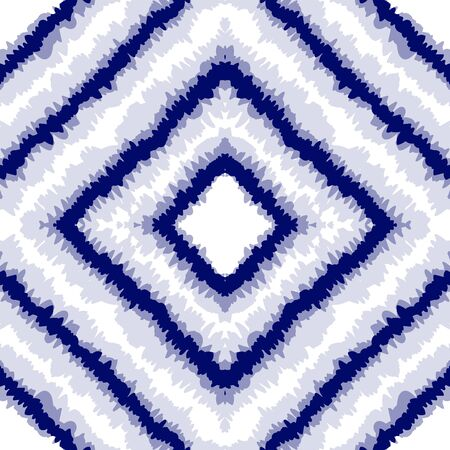 Azure Striped Abstract Background. African Ogee Wallpaper