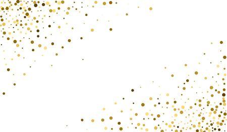 Yellow Splash Glamour Backdrop. Vector Shine Texture. Festive Backdrop. Yellow Polka Luxury Illustration. Shine Rich Illustration.