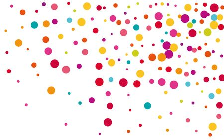 Yellow Abstract Circle Wallpaper. Color Independence Confetti Design. Carnaval Texture. Transparent Yellow Design.