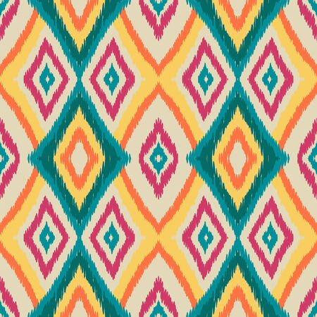 Cobalt Tribal Vector Seamless Pattern. Japan Drawn Tribal Design. Scarlet Retro Batik Wallpaper. Abstract Background.
