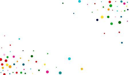 Green Carnaval Circle Wallpaper. White Flying Polka Wallpaper. Invitation Illustration. Decoration Rainbow Design.
