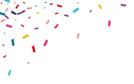 Color Vector Confetti Pattern. Dust Illustration. Dust Carnival Texture. Rainbow Celebrate Pattern.
