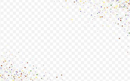 Yellow Effect Splash Backdrop. Colorful Decoration Shine Illustration. Fun Round Wallpaper. Color Dot Flying Card.