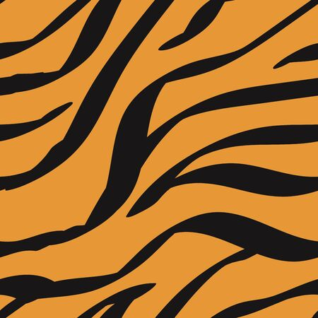Animal Zebra Hair Colorful Vector Seamless Pattern. Abstract Ink Tiger Skin Camouflage Designs. Chocolate Leopard Spots Jungle  Banner. Bronze Pencil Imitation Fur.
