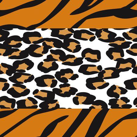 Sepia Leopard Creative Vector Seamless Pattern. Printed Tie Drawing Print. Chocolate Panther Dyed Design. Animal Jaguar Fabric Design Graffiti Pattern. Illustration
