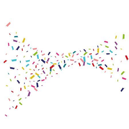 Color Carnival Dust Wallpaper. Confetti Background. Splash Invitation Card. Rainbow Carnival Design. Zdjęcie Seryjne - 140855668