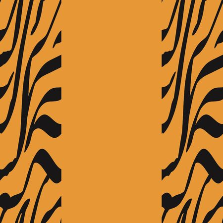 Imitation Zebra Hair Fashion Vector Seamless Pattern. Abstract Watercolor Tiger Skin Camouflage Style. Bronze Jaguar Spots Savannah  Illustration. Caramel Aquarelle Animal Fur.