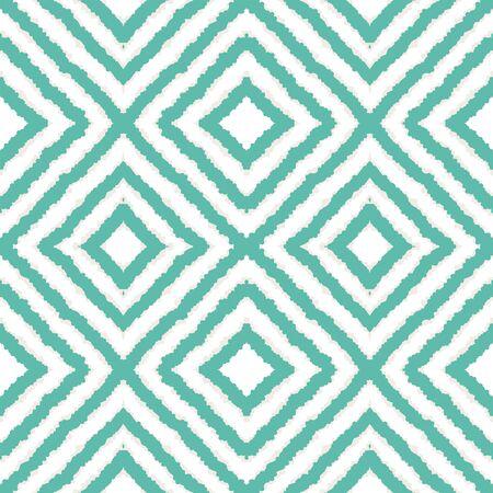 Indigo Geometric Tie Dye Vector Seamless Pattern. Elegant Tile Japan Texture. Ethnic Ogee Background. Indigo Carpet Indonesian Vector Seamless Pattern