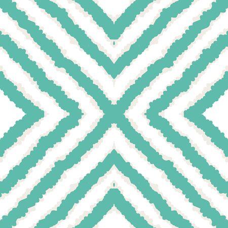 Indigo Trendy Tribal Vector Seamless Pattern. Fabric Tile Japan Background. Aztec Abstract Print. Indigo Shibori Japan Vector Seamless Pattern Ilustracja