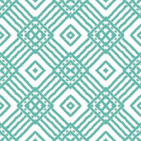 Indigo Arabic Shibori Vector Seamless Pattern. Fabric Chevron Uzbek Background. Japanese Graphic Ornament. Blue Shibori African Vector Seamless Pattern
