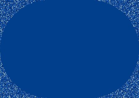 Blue Glitter Galaxy Graphic Invitation. Light Sky Design. Bright Starry Backdrop. Blue Vector Festive Design.