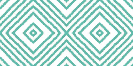 Blue Fashion Chevron Vector Seamless Pattern. Psychedelic Tile Aztec Texture. Traditional Fabric Background. Indigo Chevron African Vector Seamless Pattern Ilustracja