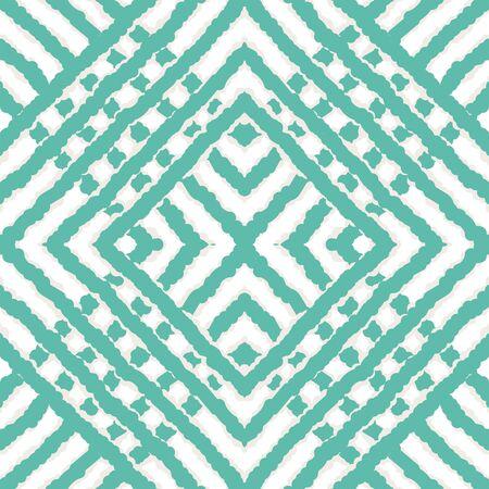 Indigo Vintage Tile Vector Seamless Pattern. Geometric Tribal Ethnic Background. Ethnic Rustic Ornament. Blue Chevron Traditional Vector Seamless Pattern Zdjęcie Seryjne - 140856011