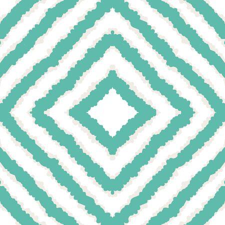 Indigo Repeat Chevron Vector Seamless Pattern. Rustic Batik Indian Print. Uzbek Geometric Print. Blue Chevron African Vector Seamless Pattern Ilustracja