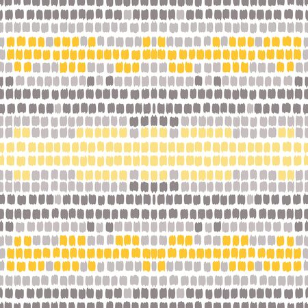 Gray Stripe Vector Seamless Pattern. American Fashion Line Pattern. Scandinavian Wallpaper. Yellow Strip Abstract Design.