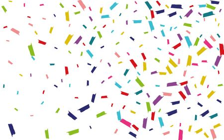 Color Happy Confetti Wallpaper. Splash Design. Splash Celebration Postcard. Rainbow Fun Backdrop.