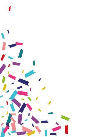 Color Vector Rain Illustration. Rain Design. Confetti Effect Texture. Color Effect Banner.