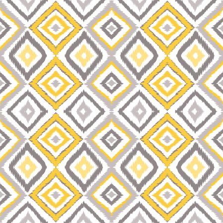 Gray Shibori Boho Vector Seamless Pattern. Drawing Chevron Texture. Indian Fashion Tie Dye Background. Bright Repeat Aztec Print.