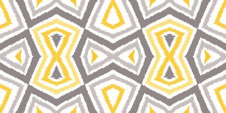 Bright Shibori Repeat Vector Seamless Pattern. Stripe Batik Print. Indonesian Retro Tile Background. Gray Fabric Aztec Ornament.