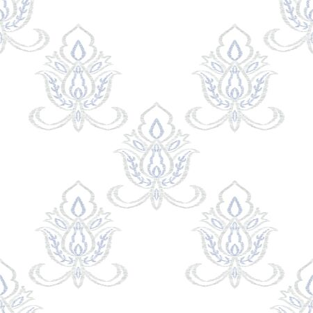 Indigo Motif Oriental Vector Seamless Pattern. Indian Medallion Wallpaper. Moroccan Design. Blue Ornament Decorative Backdrop.