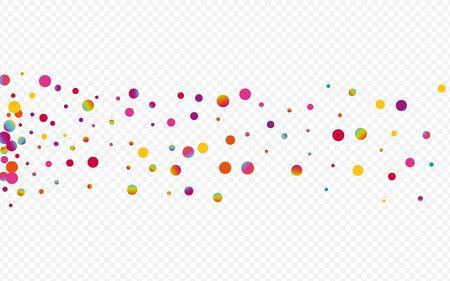 Rainbow Confetti Vector Transparent Background. Hologram Effect Splash Design. Christmas Card. Holographic Celebrate Texture. Stockfoto - 147729512