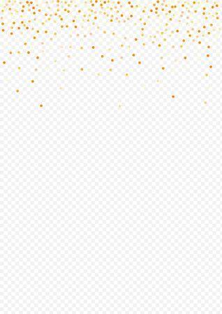 Yellow Glow Happy Transparent Background. Glamour Circle Banner. Gold Dust Anniversary Illustration. Rain Holiday Invitation. Stockfoto - 147729513