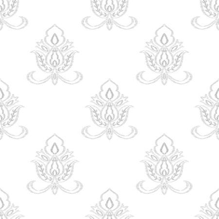 Indigo Flower Islamic Vector Seamless Pattern. Indian Medallion Background. Floral Design. Blue Motif Turkish Illustration.